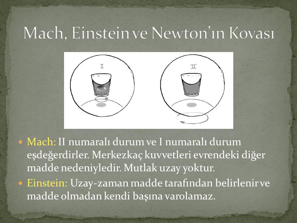 Mach, Einstein ve Newton'ın Kovası