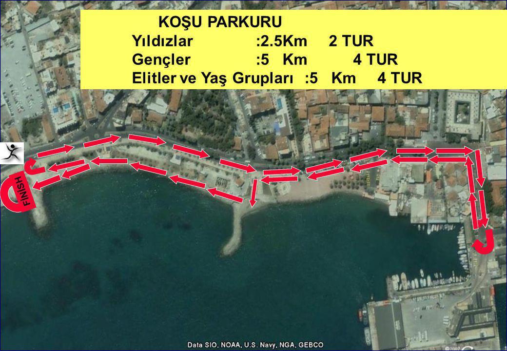 Elitler ve Yaş Grupları :5 Km 4 TUR