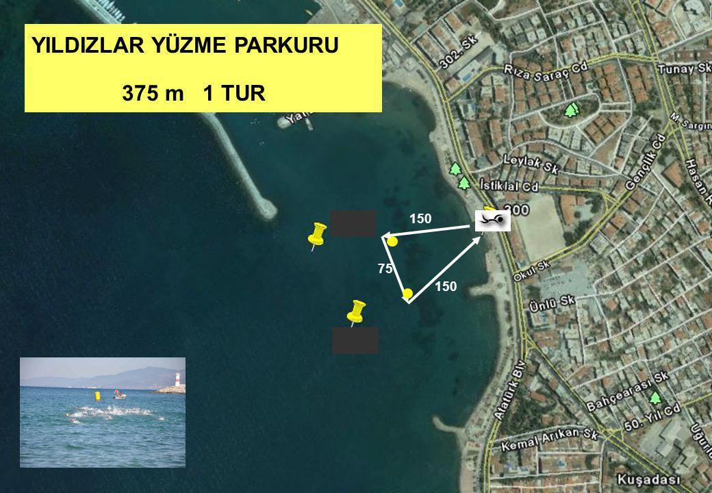 YILDIZLAR YÜZME PARKURU 375 m 1 TUR