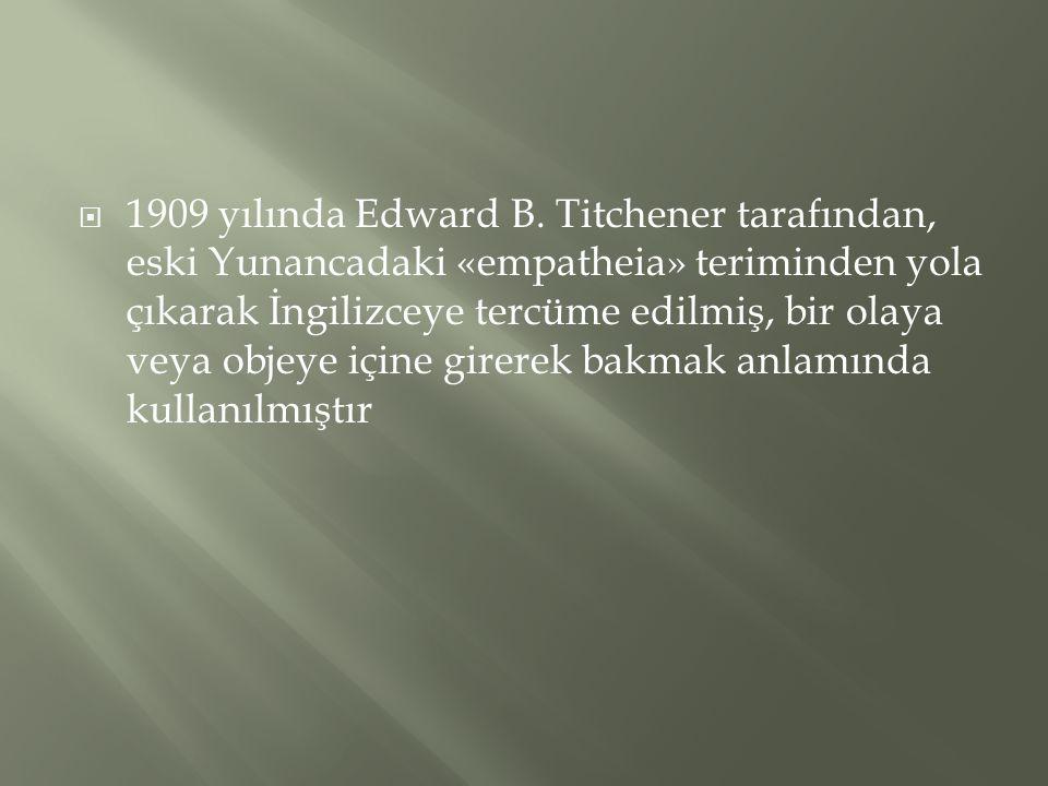 1909 yılında Edward B.