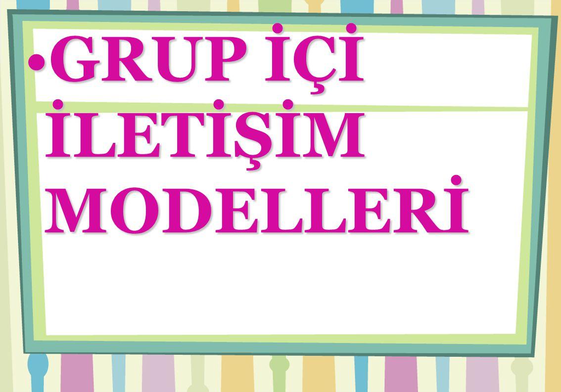 GRUP İÇİ İLETİŞİM MODELLERİ