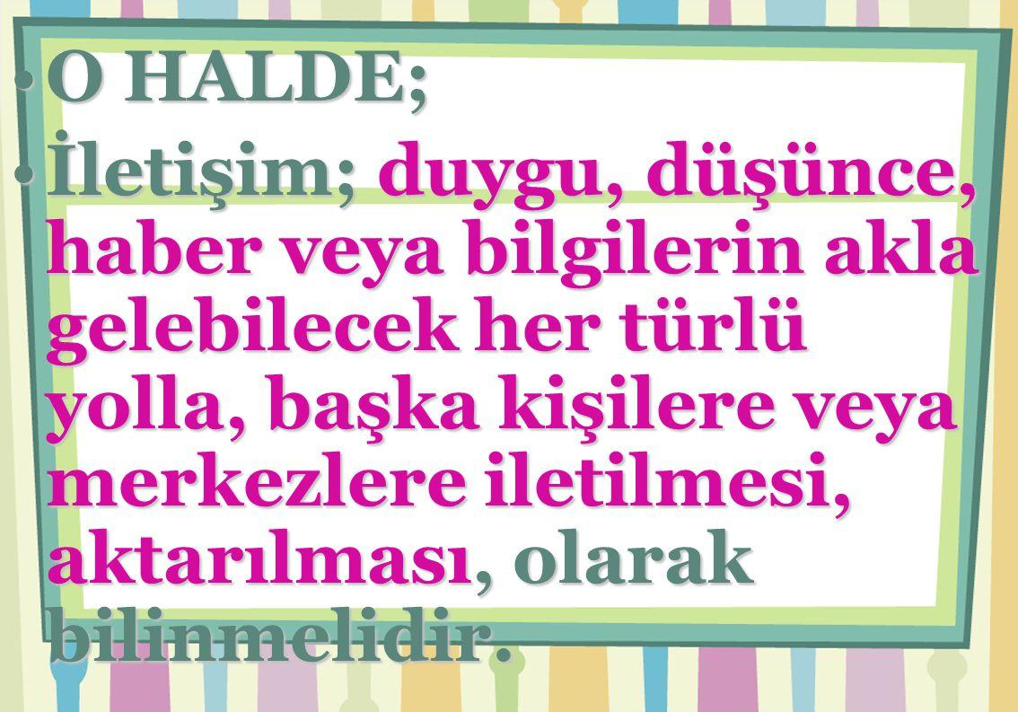 O HALDE;
