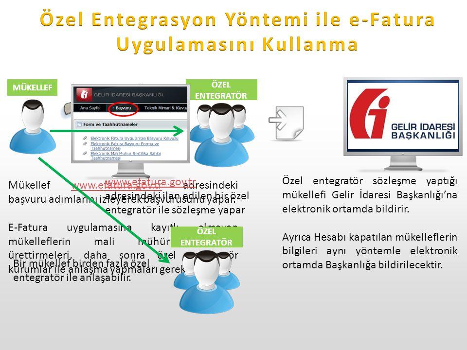 Özel Entegrasyon Yöntemi ile e-Fatura Uygulamasını Kullanma