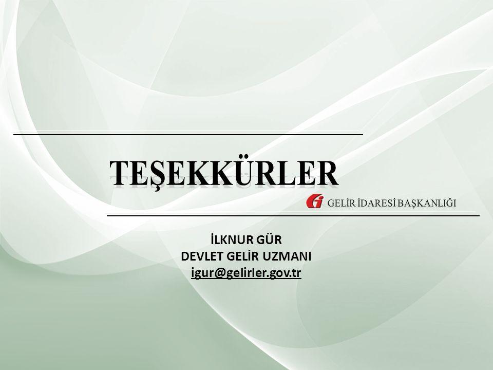 İLKNUR GÜR DEVLET GELİR UZMANI igur@gelirler.gov.tr