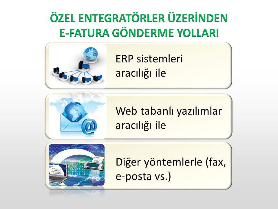 ÖZEL ENTEGRATÖRLER ÜZERİNDEN E-FATURA GÖNDERME YOLLARI