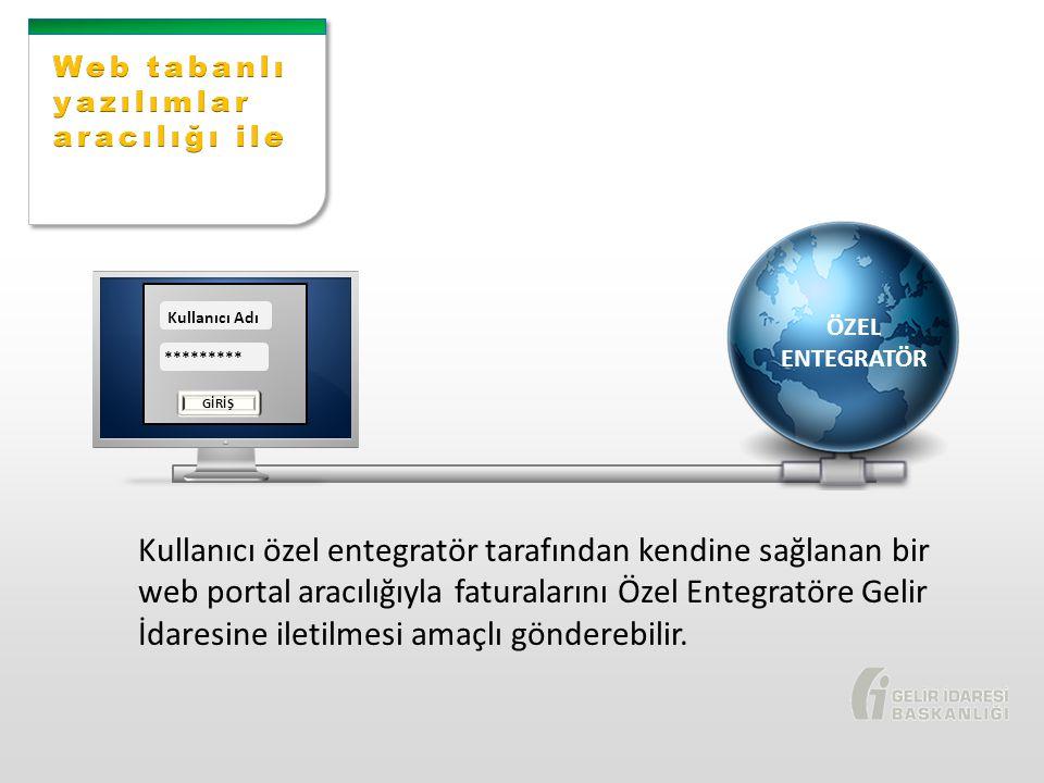 Web tabanlı yazılımlar aracılığı ile