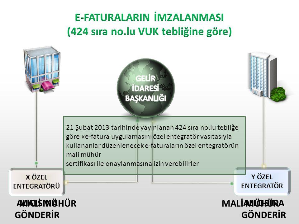 E-FATURALARIN İMZALANMASI (424 sıra no.lu VUK tebliğine göre)
