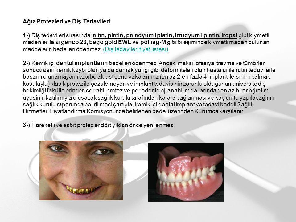 Ağız Protezleri ve Diş Tedavileri