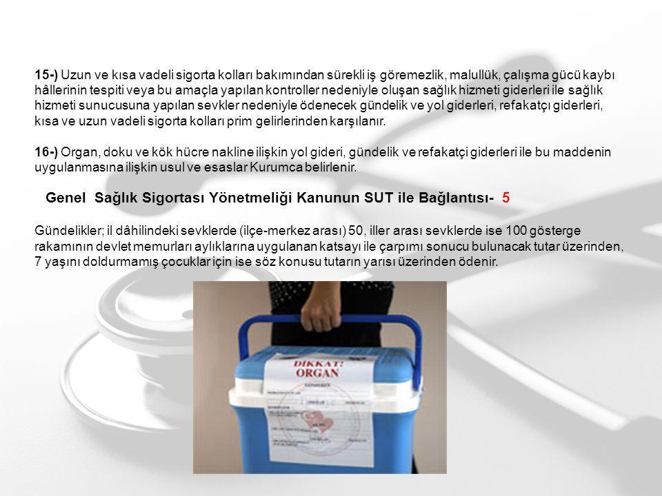 Genel Sağlık Sigortası Yönetmeliği Kanunun SUT ile Bağlantısı- 5