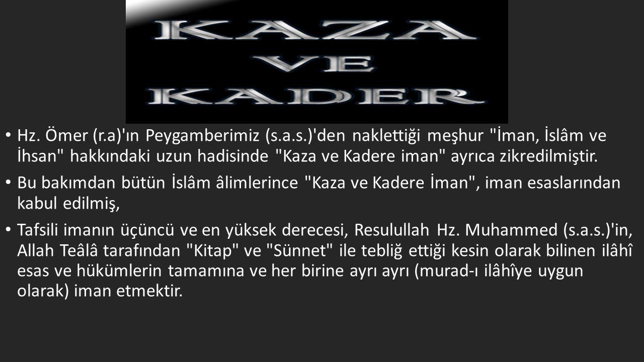 Hz. Ömer (r. a) ın Peygamberimiz (s. a. s