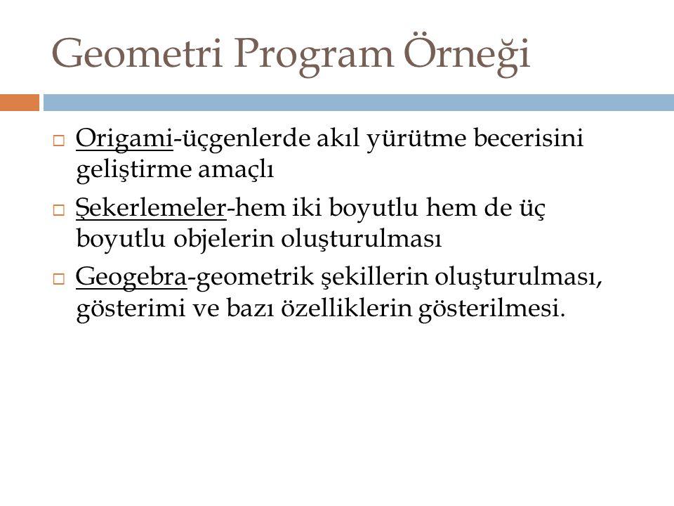 Geometri Program Örneği