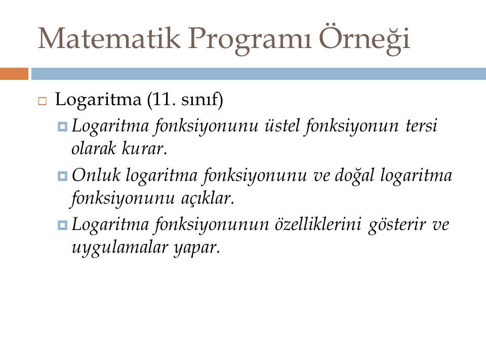 Matematik Programı Örneği