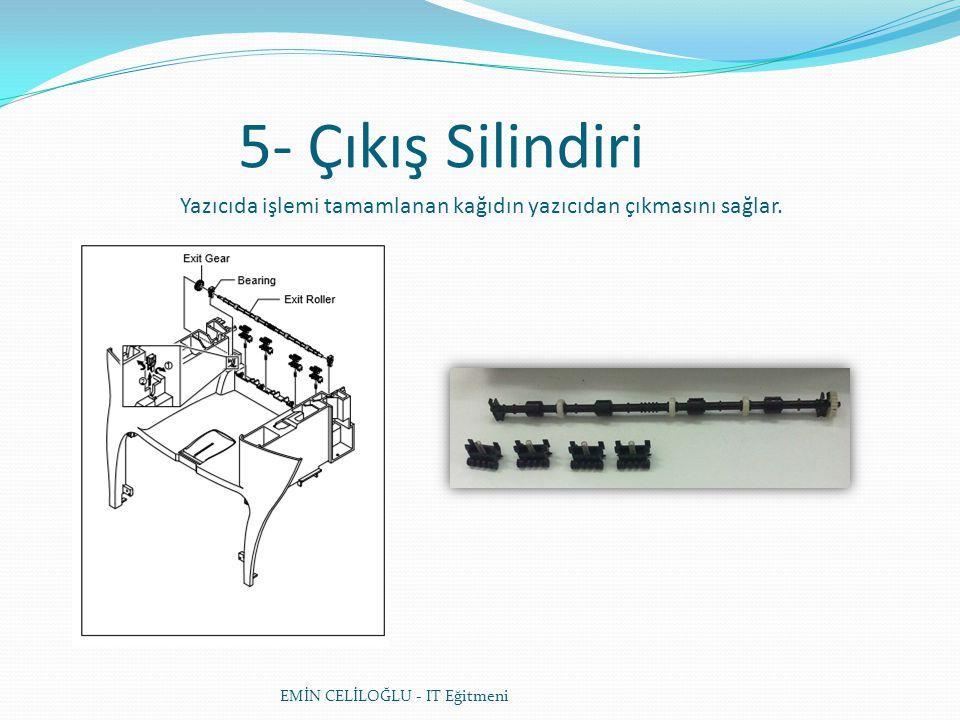 5- Çıkış Silindiri Yazıcıda işlemi tamamlanan kağıdın yazıcıdan çıkmasını sağlar.