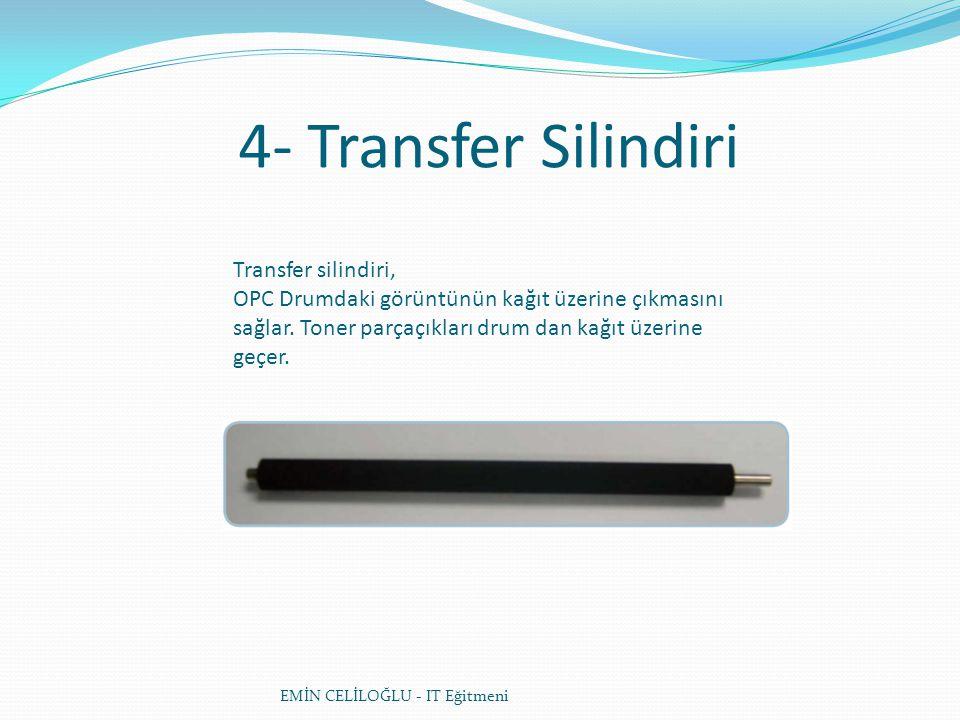 4- Transfer Silindiri Transfer silindiri,