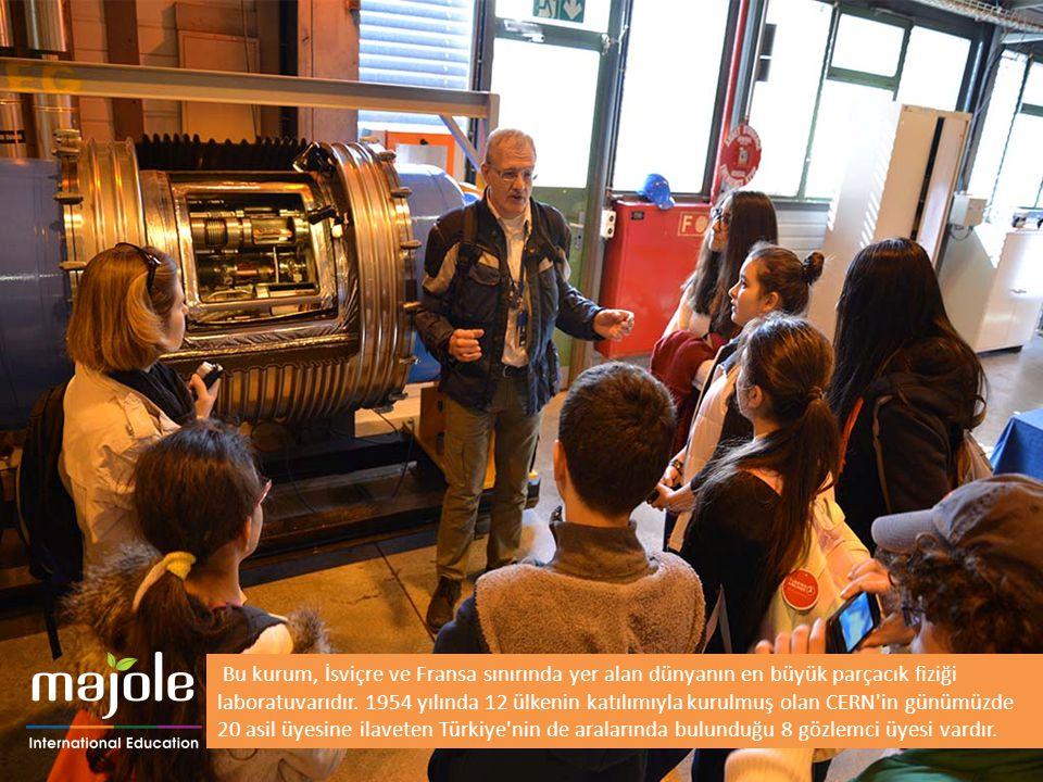 Bu kurum, İsviçre ve Fransa sınırında yer alan dünyanın en büyük parçacık fiziği laboratuvarıdır. 1954 yılında 12 ülkenin katılımıyla kurulmuş olan CERN in günümüzde 20 asil üyesine ilaveten Türkiye nin de aralarında bulunduğu 8 gözlemci üyesi vardır.