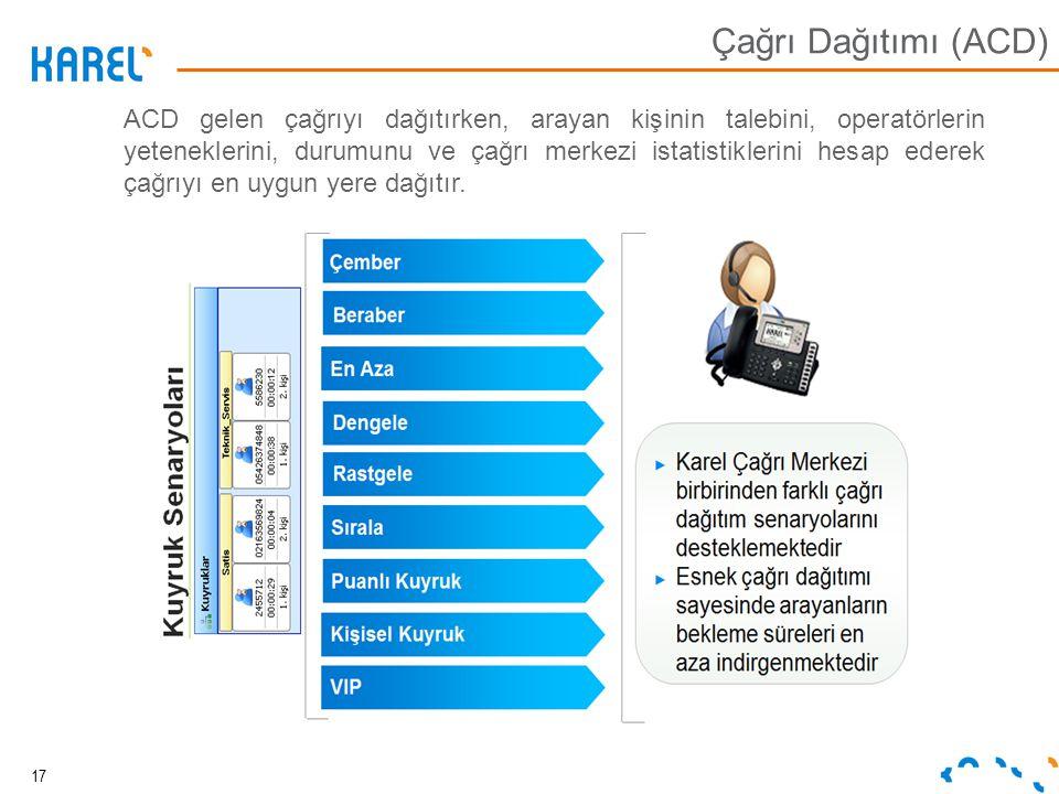 Çağrı Dağıtımı (ACD)