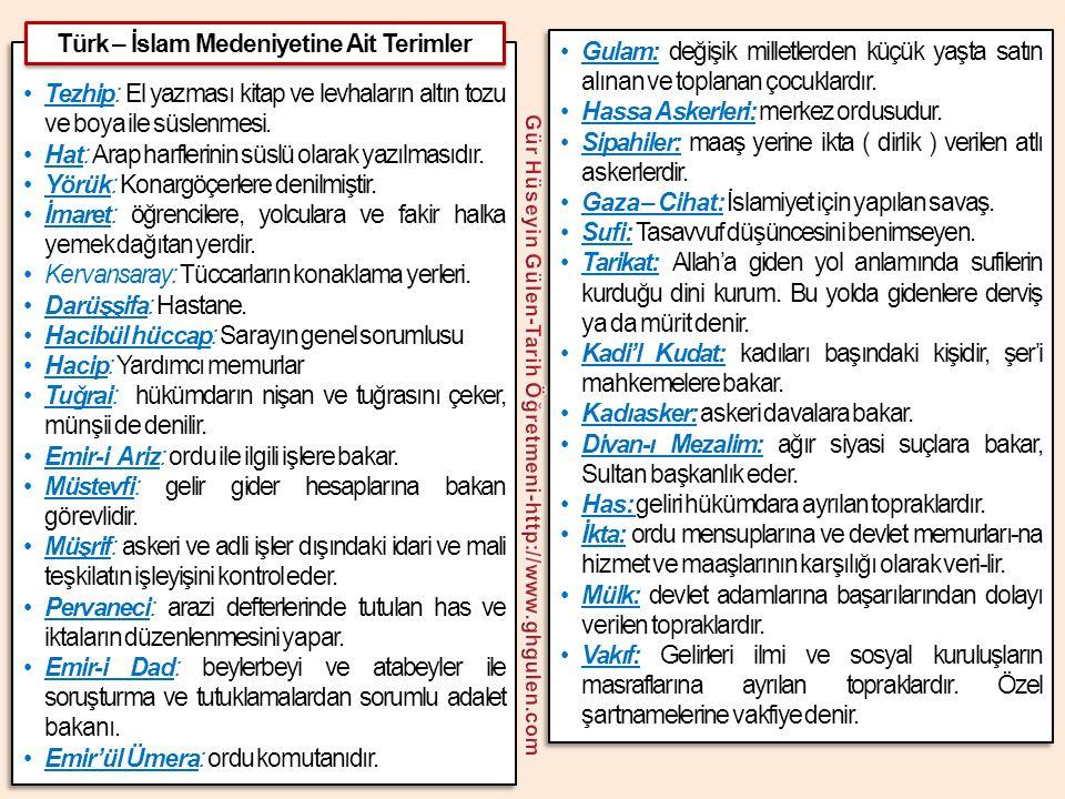 Türk – İslam Medeniyetine Ait Terimler