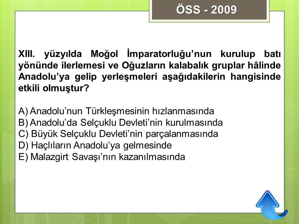 ÖSS - 2009