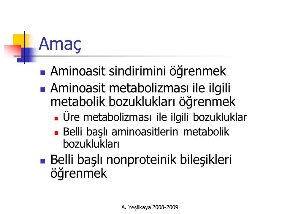 Amaç Aminoasit sindirimini öğrenmek