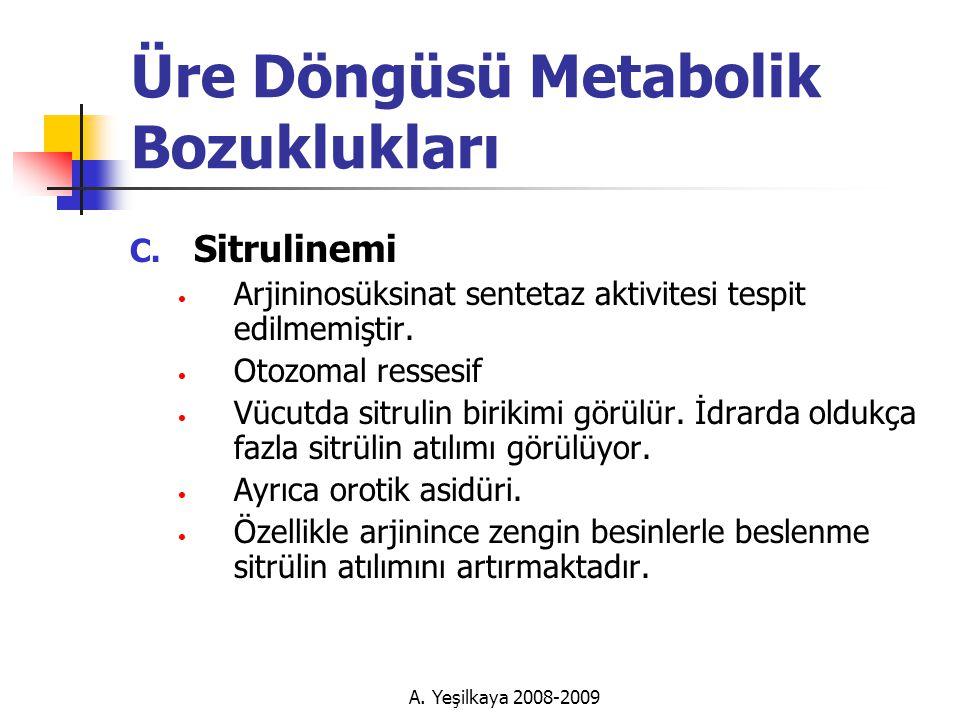 Üre Döngüsü Metabolik Bozuklukları