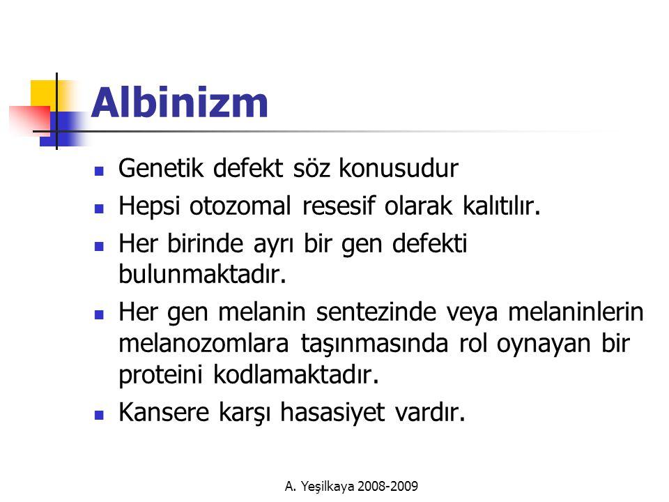 Albinizm Genetik defekt söz konusudur