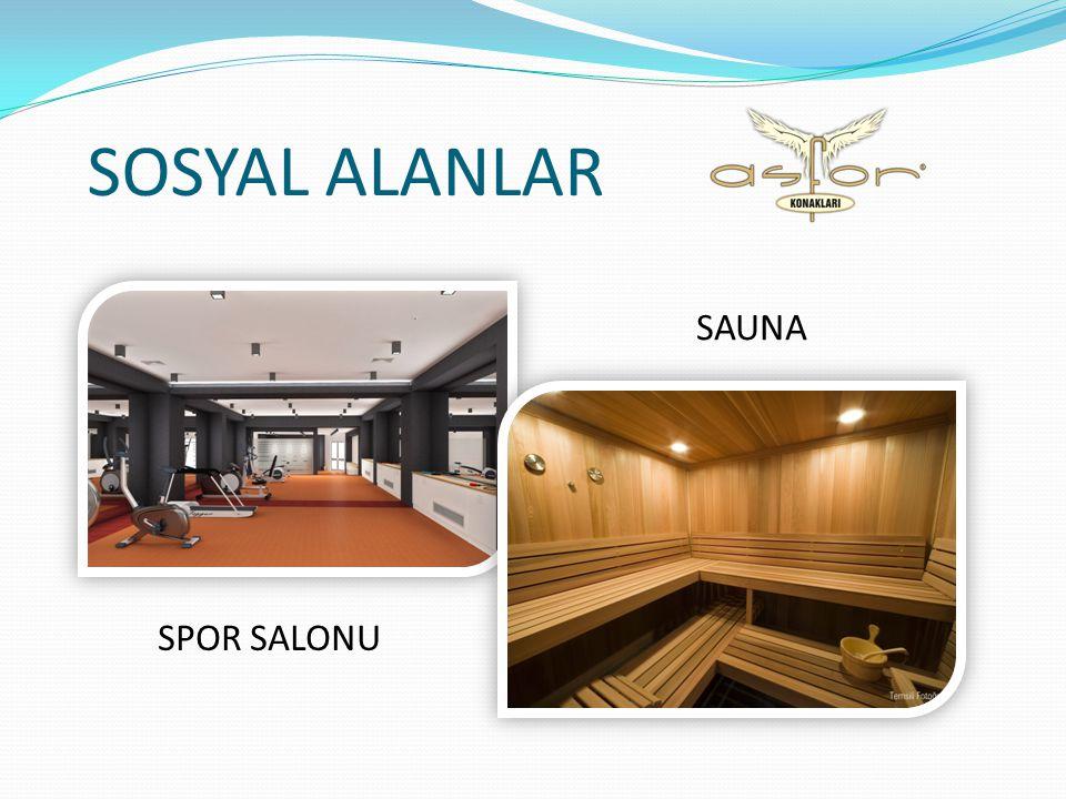 SOSYAL ALANLAR SAUNA SPOR SALONU