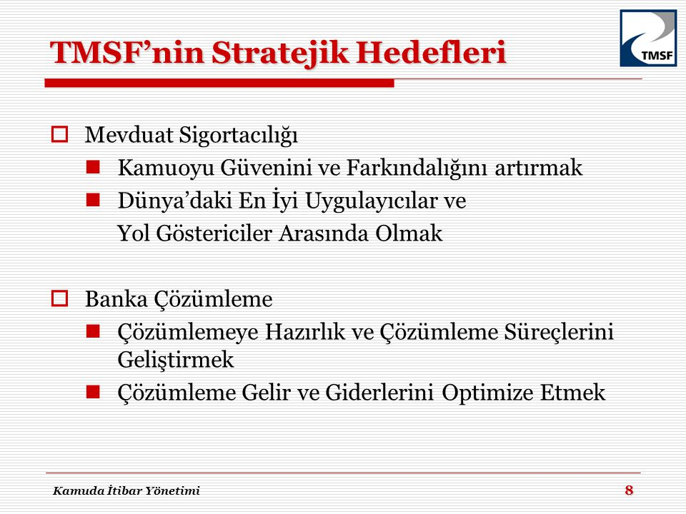 TMSF'nin Stratejik Hedefleri