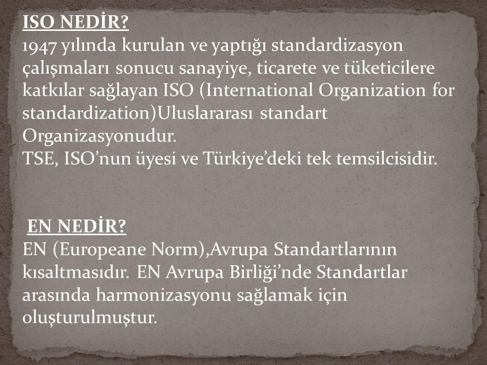 ISO NEDİR