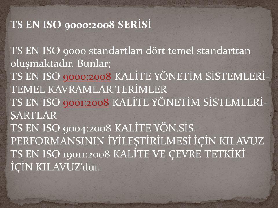 TS EN ISO 9000:2008 SERİSİ
