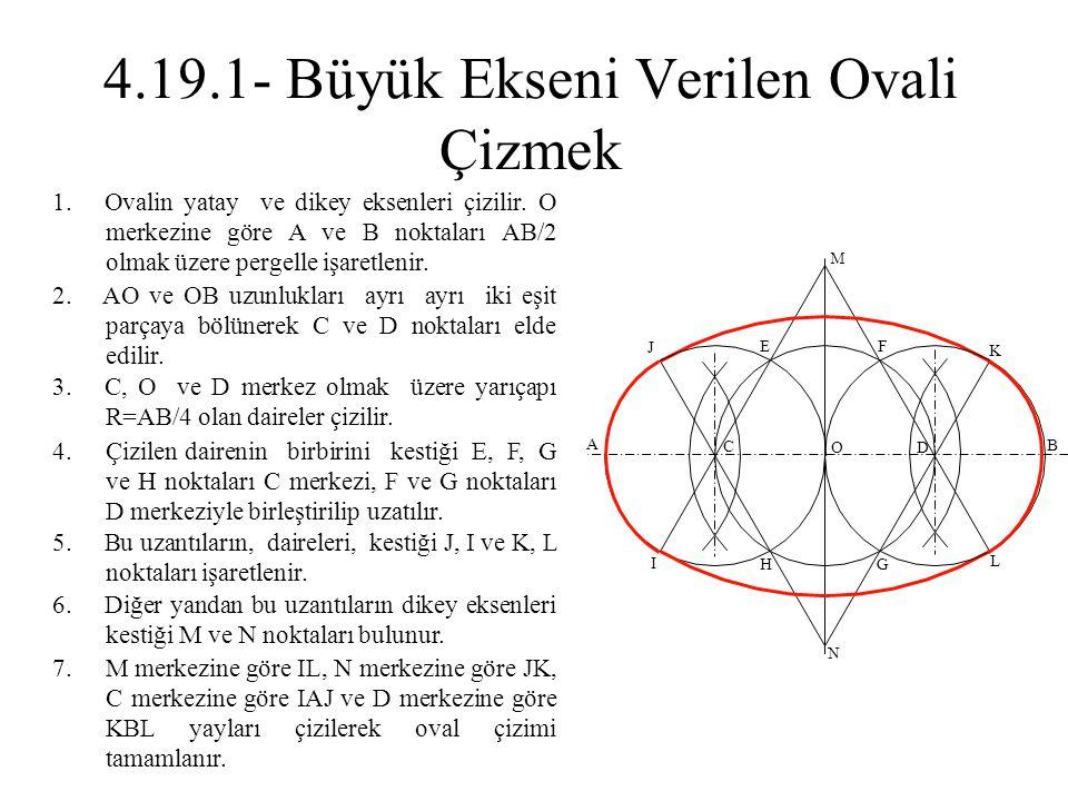 4.19.1- Büyük Ekseni Verilen Ovali Çizmek
