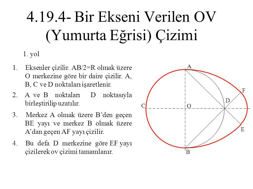 4.19.4- Bir Ekseni Verilen OV (Yumurta Eğrisi) Çizimi