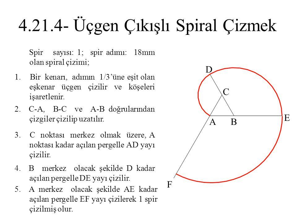 4.21.4- Üçgen Çıkışlı Spiral Çizmek