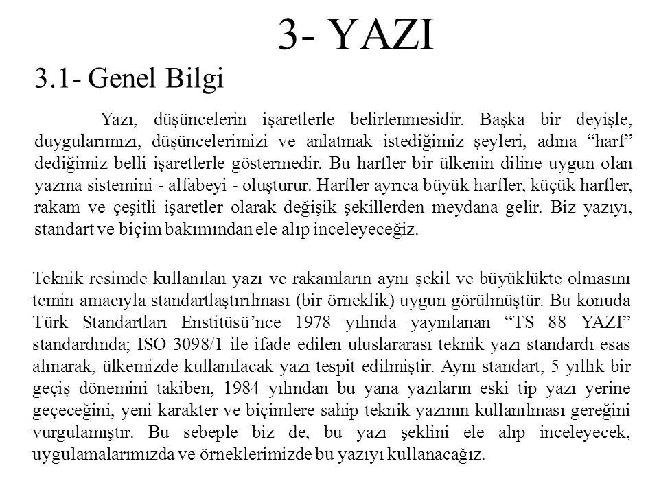 3- YAZI 3.1- Genel Bilgi.