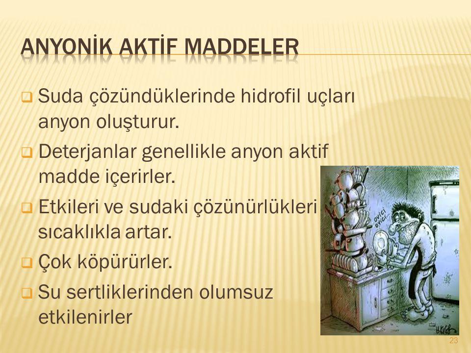 Anyonİk Aktİf Maddeler