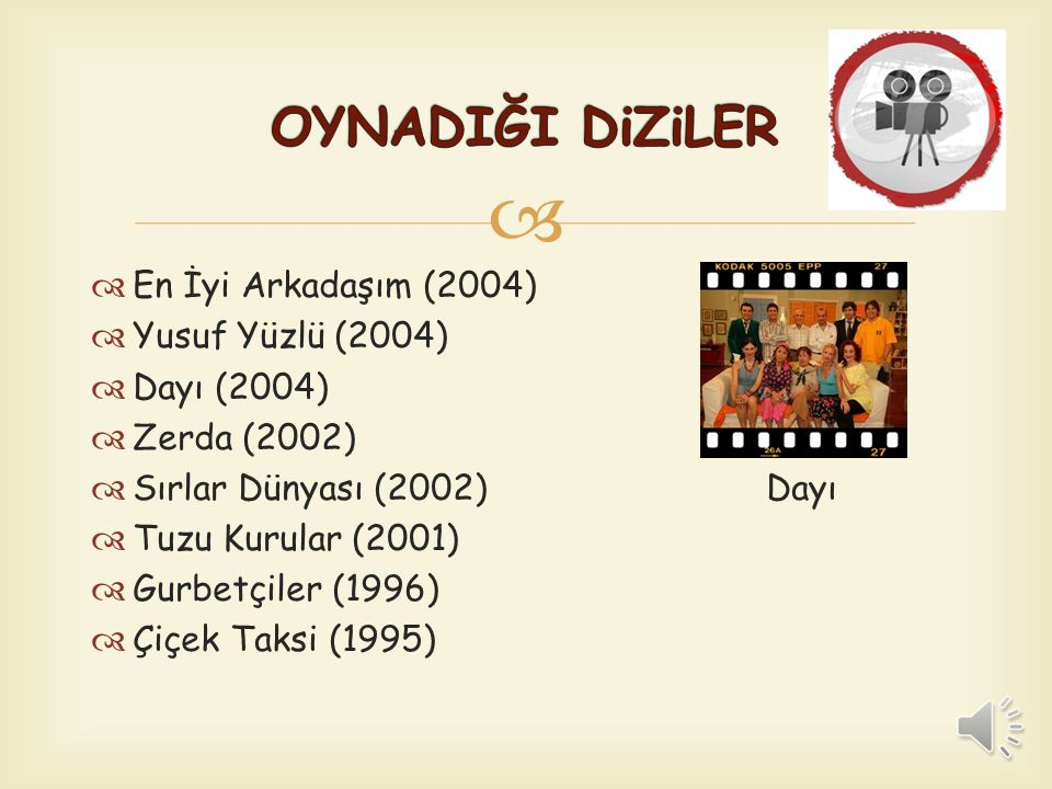 OYNADIĞI DiZiLER En İyi Arkadaşım (2004) Yusuf Yüzlü (2004)