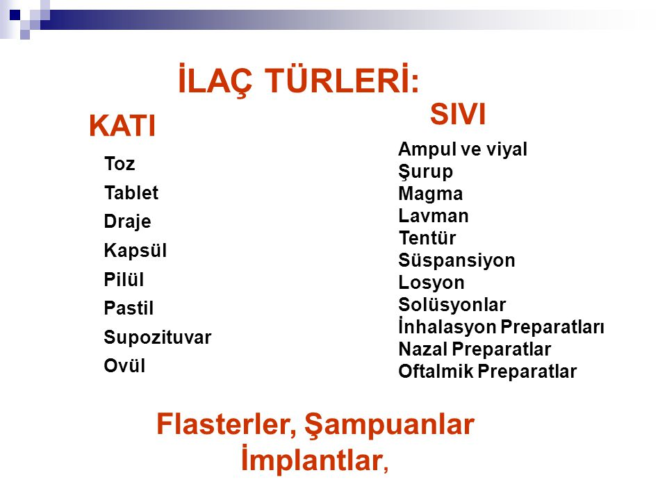 Flasterler, Şampuanlar İmplantlar,