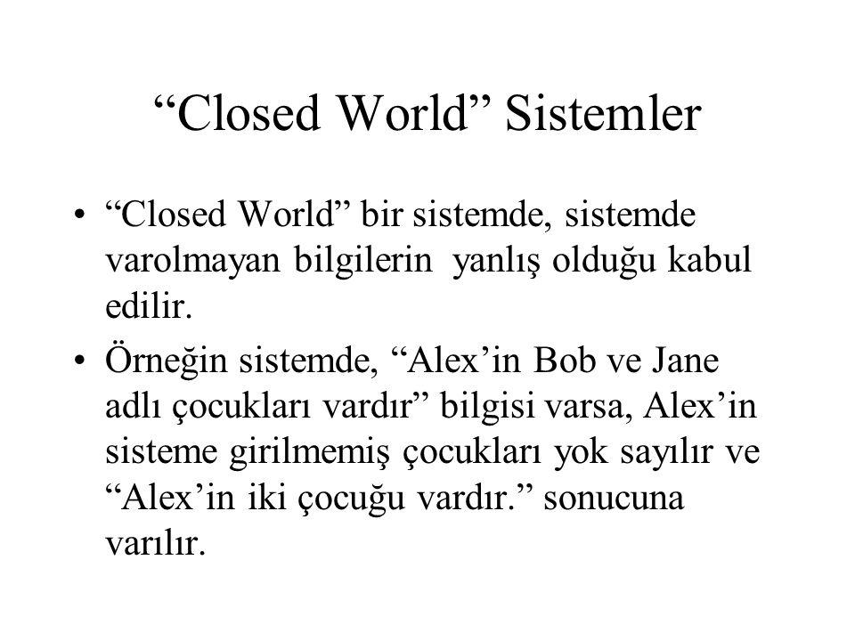 Closed World Sistemler