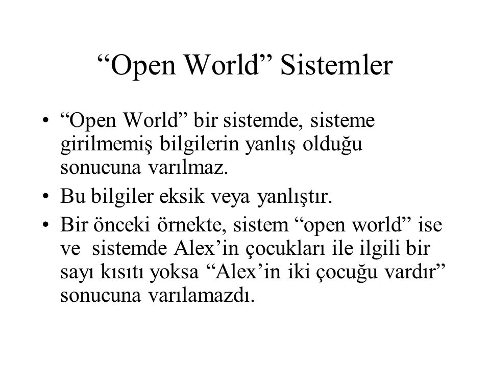 Open World Sistemler