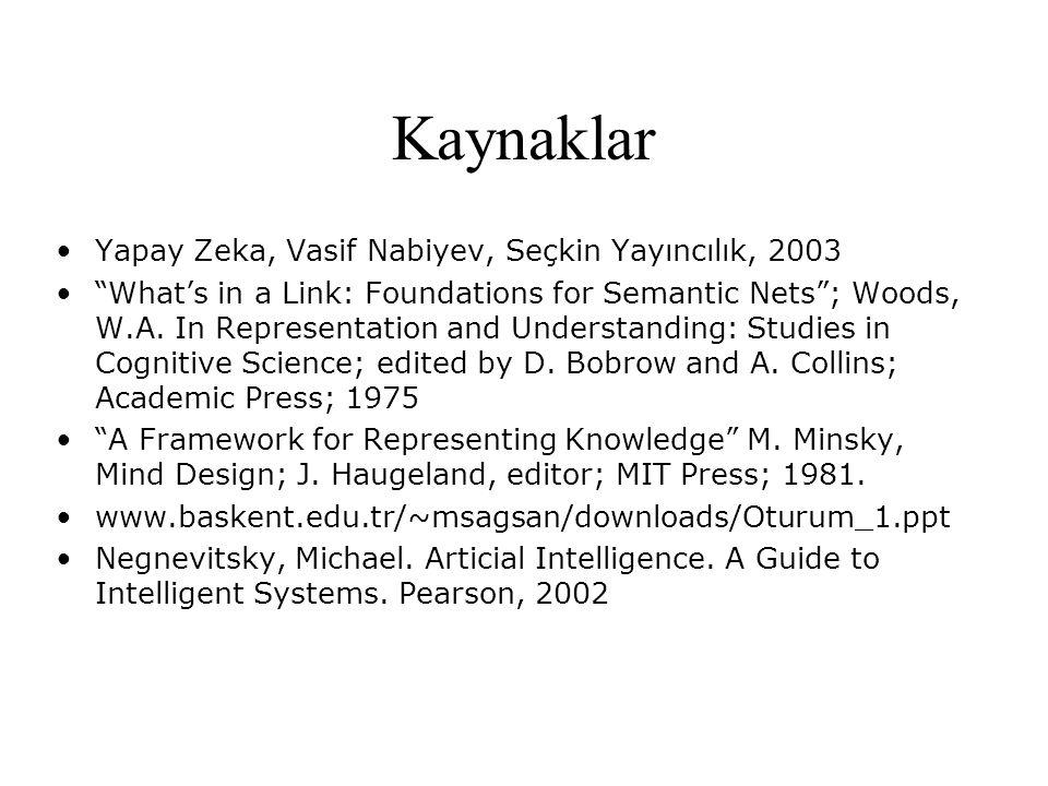 Kaynaklar Yapay Zeka, Vasif Nabiyev, Seçkin Yayıncılık, 2003