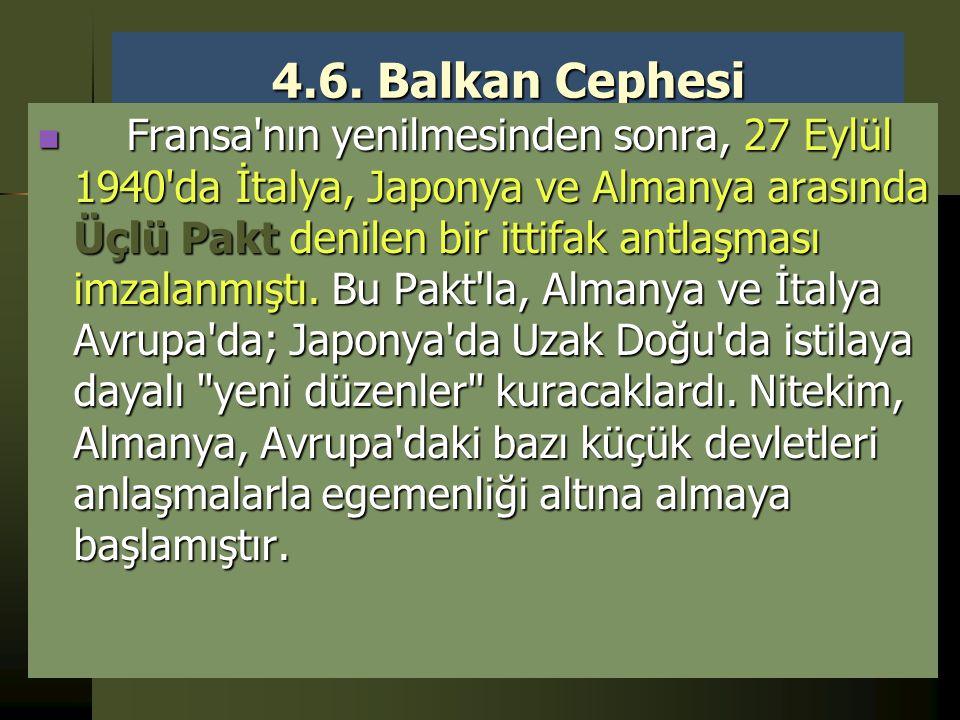 4.6. Balkan Cephesi