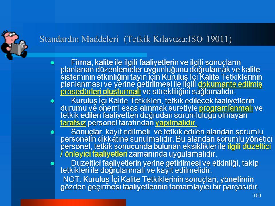 Standardın Maddeleri (Tetkik Kılavuzu:ISO 19011)