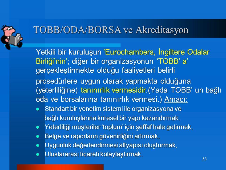TOBB/ODA/BORSA ve Akreditasyon