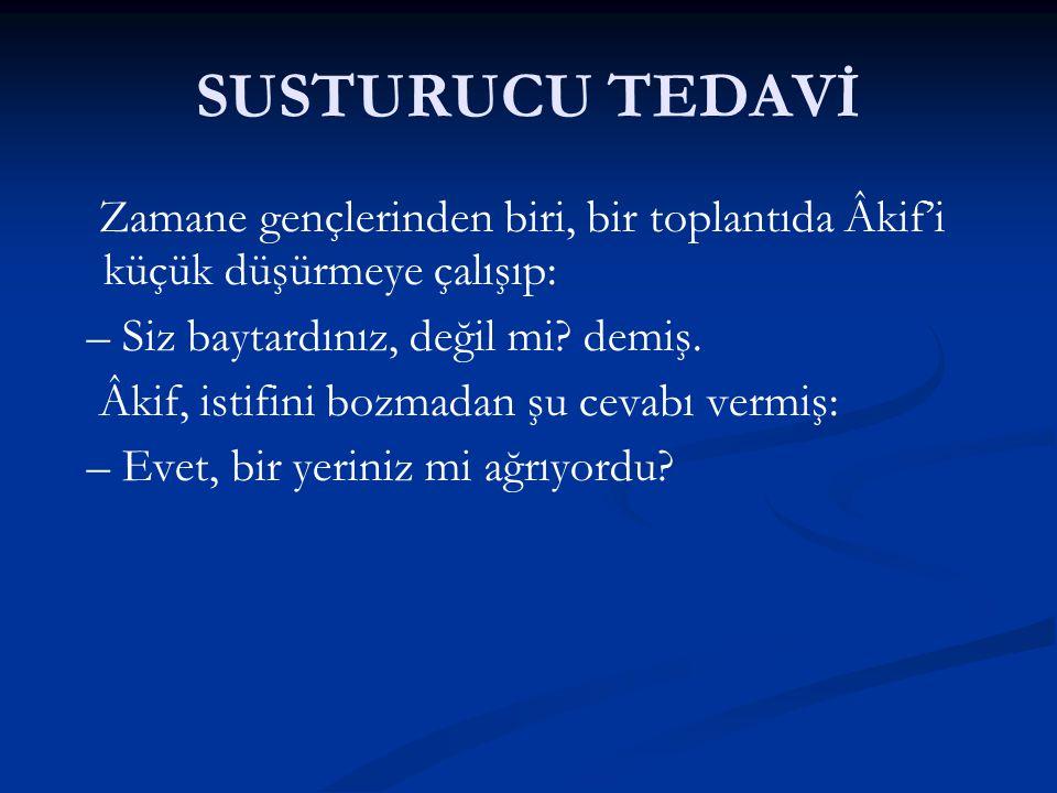 SUSTURUCU TEDAVİ
