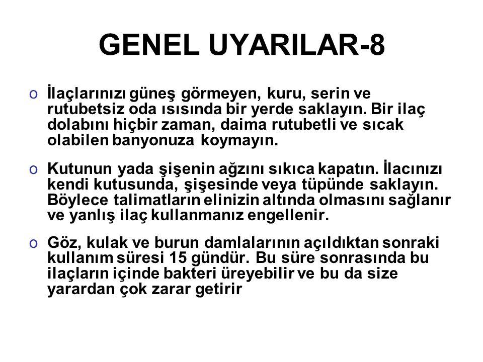 GENEL UYARILAR-8