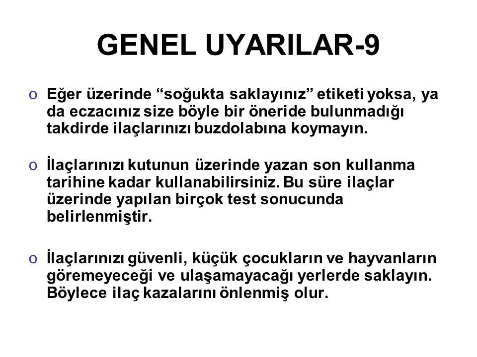 GENEL UYARILAR-9