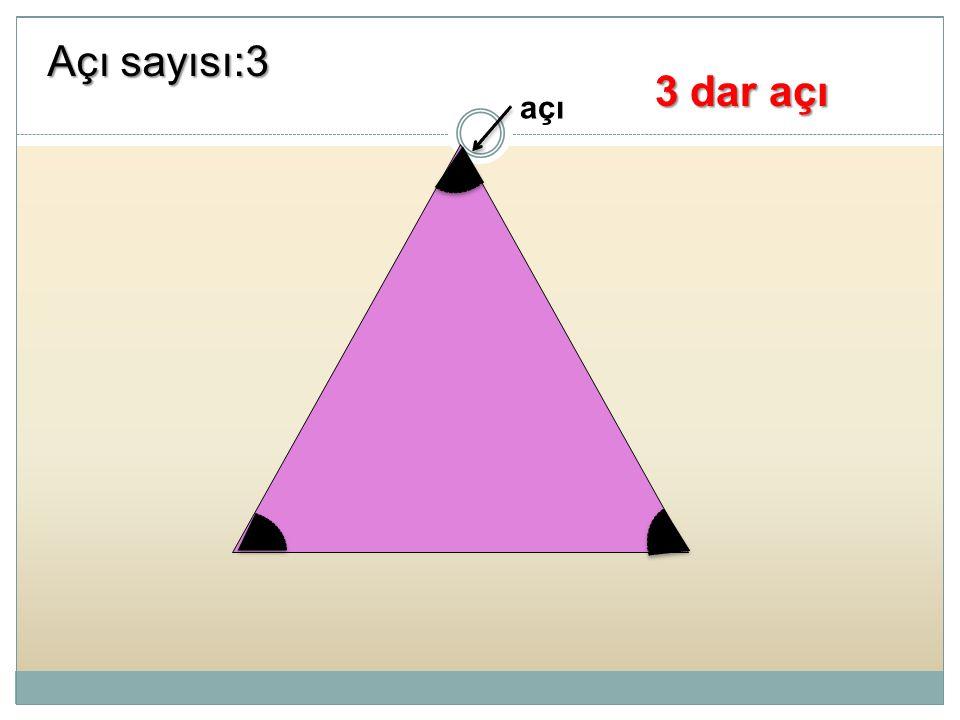 Açı sayısı:3 3 dar açı açı