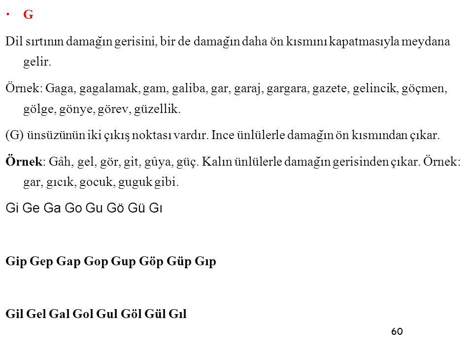 Gip Gep Gap Gop Gup Göp Güp Gıp