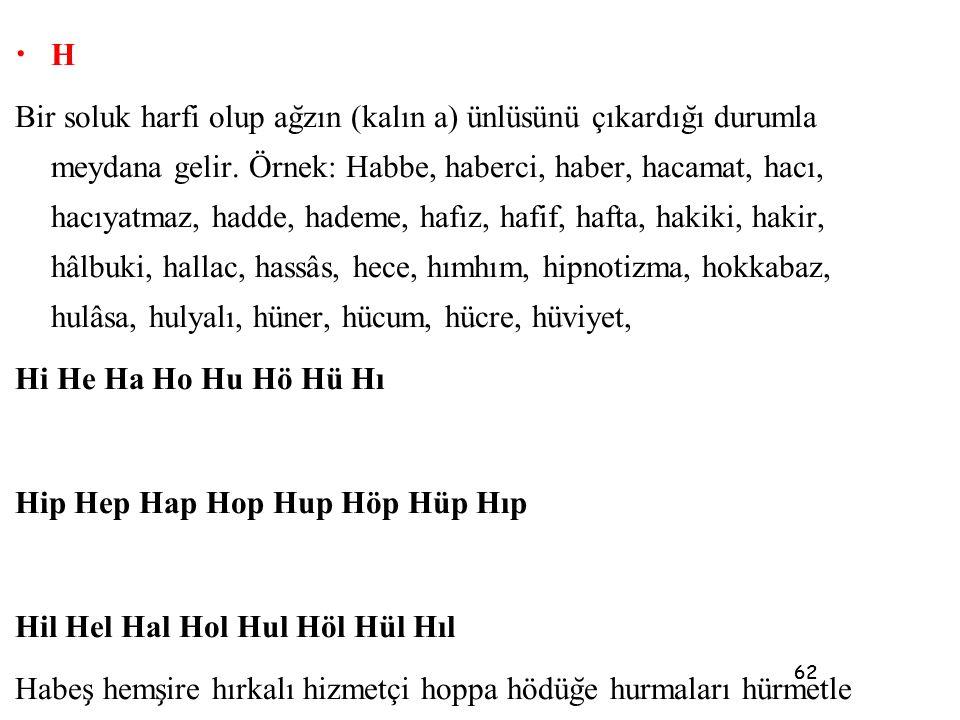 Hip Hep Hap Hop Hup Höp Hüp Hıp