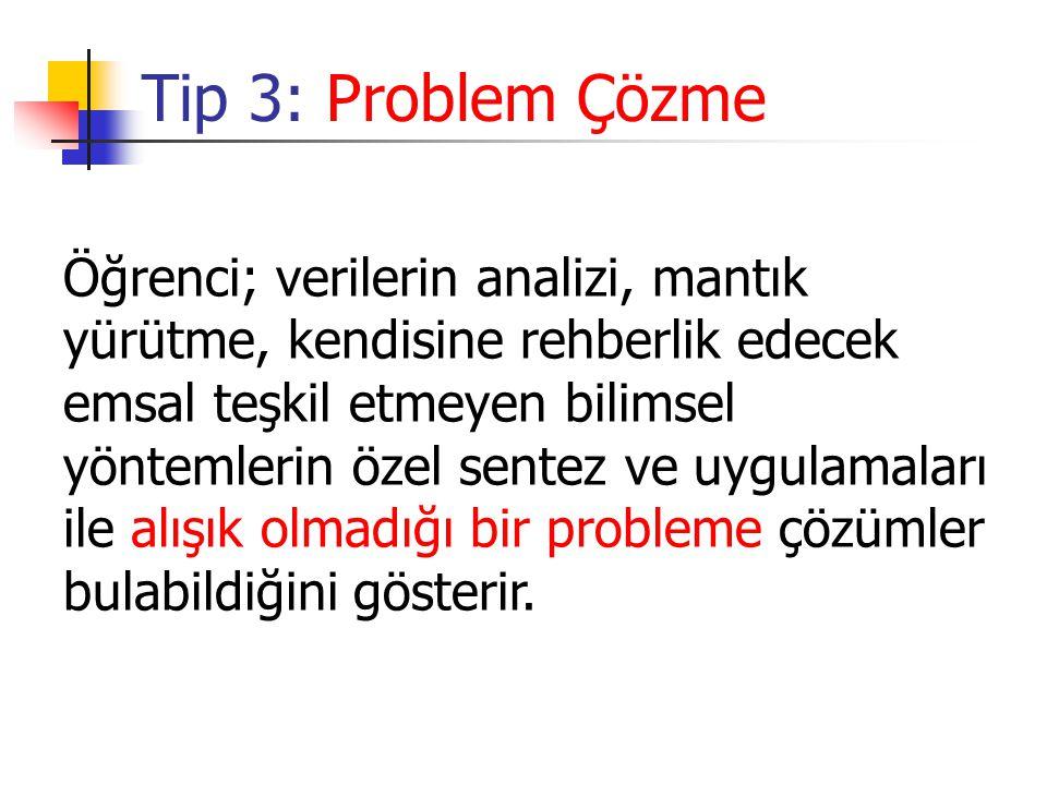 Tip 3: Problem Çözme
