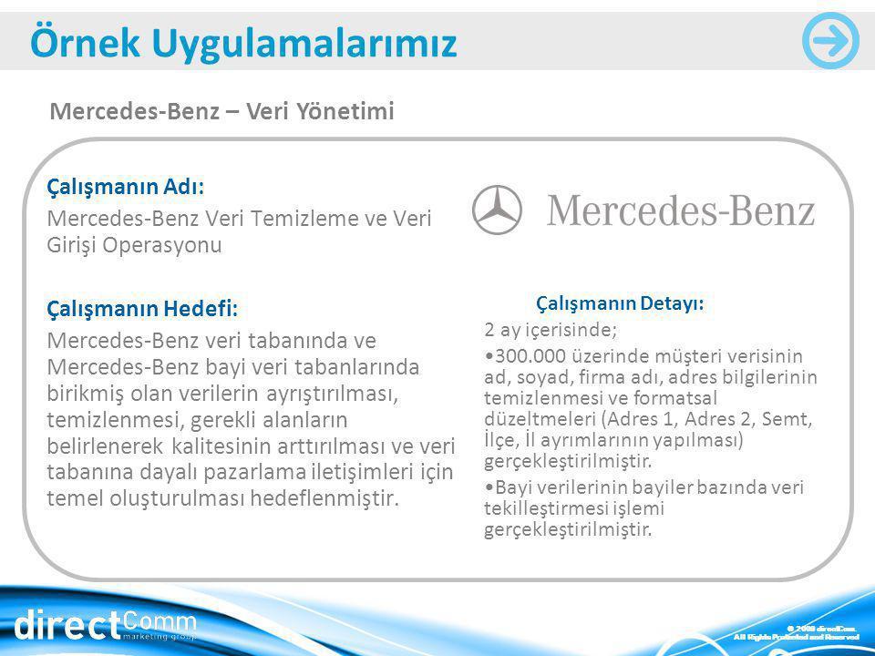 Mercedes-Benz – Veri Yönetimi